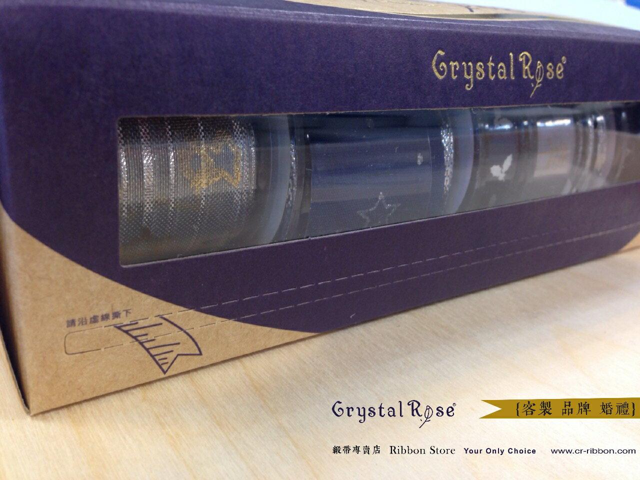 【Crystal Rose緞帶專賣店】白紗新娘緞帶禮盒(6入) 3