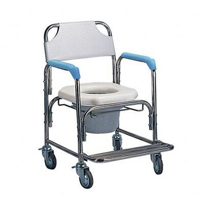 不鏽鋼洗澡椅便器椅(軟墊座)YH125