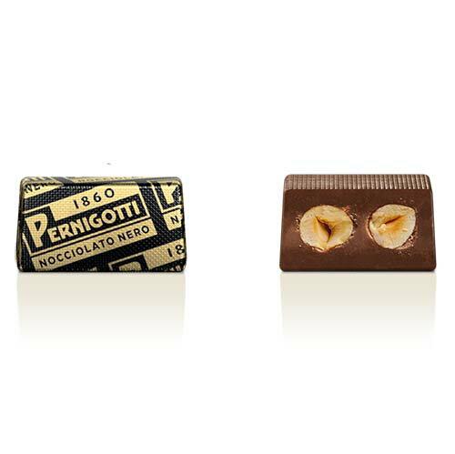 【派尼克帝PERNIGOTTI】義大利進口金磚巧克力★顆粒榛果70%黑巧克力塊~經典黑金禮盒裝72g★ 1