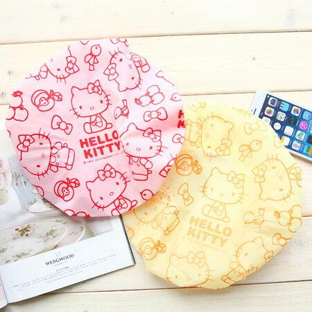 正版 Hello Kitty 防水浴帽 洗澡 沐浴 洗臉用 保持頭髮乾燥 台灣製 卡通造型 三麗鷗 凱蒂貓 KT【N200776】
