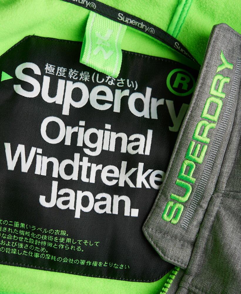 [男款] OUTLET英國名品 代購 極度乾燥 Superdry Windtrekker 男士風衣戶外休閒外套 防水 灰色/螢光綠 3