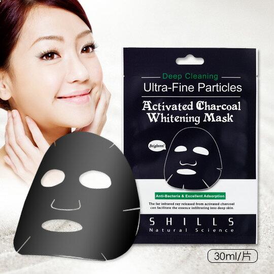 SHILLS舒兒絲 新一代挽臉活性炭淨白透亮緊緻黑面膜(單片)