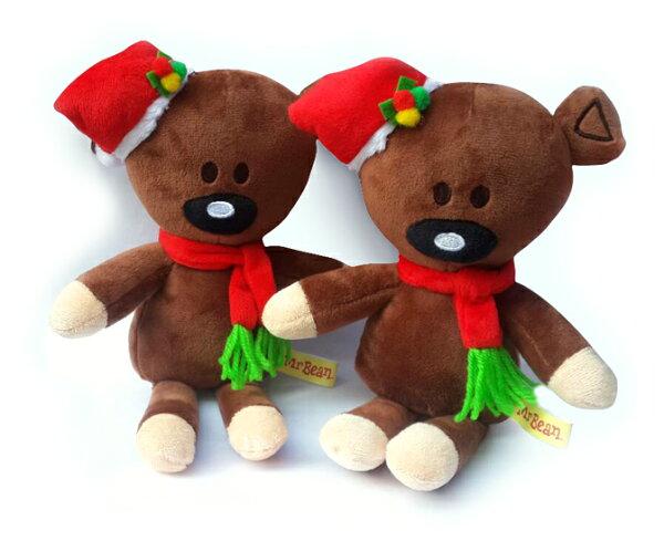 聖誕節 正版6寸豆豆先生泰迪熊玩偶(27X17cm) ♥77SHOP♥
