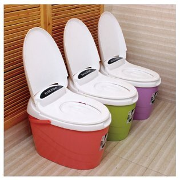 床邊馬桶 - 移動式、多彩糖果色、便利
