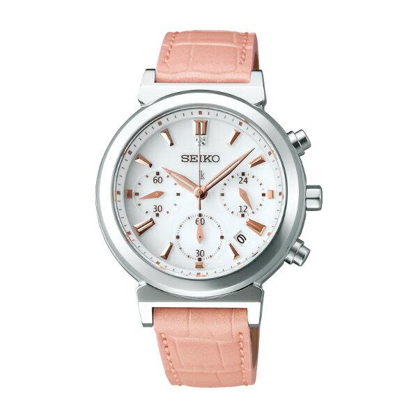 Seiko Lukia V175-0AJ0S(SSVS007J)清晰可人太陽能計時腕錶/白面35mm