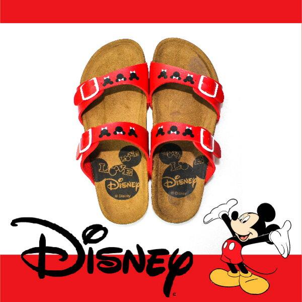 萬特戶外運動休閒 - 正版迪士尼勃肯拖鞋 可調式雙帶拖鞋 米奇米妮 親子款 (紅色)