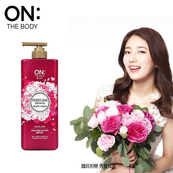 【韓國ON THE BODY】粉紅甜心香水沐浴精900ML