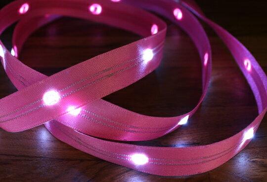 LiTex LED寬版緞帶15mm-白燈系列-中間燈(12色緞帶可選擇) 3