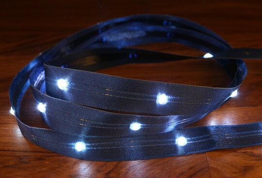 LiTex LED寬版緞帶15mm-白燈系列-中間燈(12色緞帶可選擇) 6