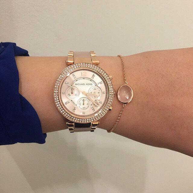 【限時8折 全店滿5000再9折】MichaelKors MK 粉玫瑰金 水鑽  陶瓷  三環 手錶 腕錶 MK5896 美國Outlet正品代購 7