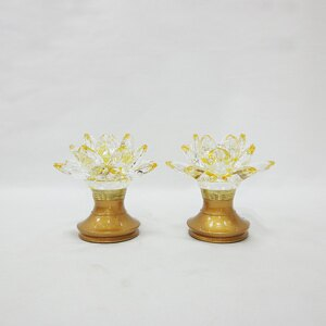 3寸5高蓮花水晶燈(粉金)