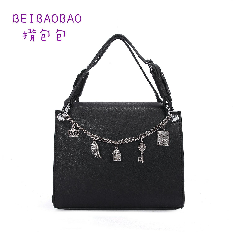 【BEIBAOBAO】東區時尚質感真皮手提包(時尚黑 共二色) 0