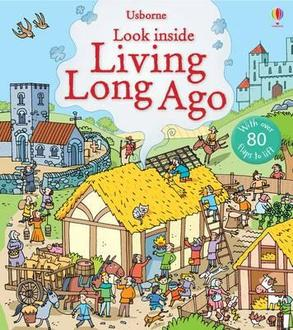 英國 Usborne 翻翻書 look inside Living Long Ago 古代生活 *夏日微風*