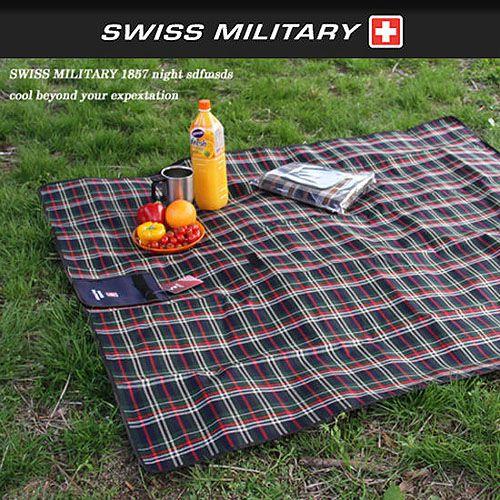 [阿爾卑斯戶外/露營] 土城 SWISS MILITARY 蘇格蘭野餐墊/地墊 130x150cm S3T3M001GN - 限時優惠好康折扣