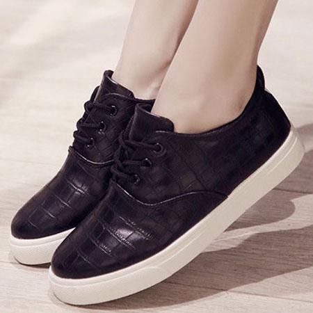 休閒鞋 韓版流行格紋皮革休閒鞋【S1559】☆雙兒網☆ 0