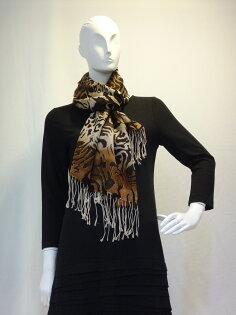 Ysanne ~冬季必備豹紋圍巾L002