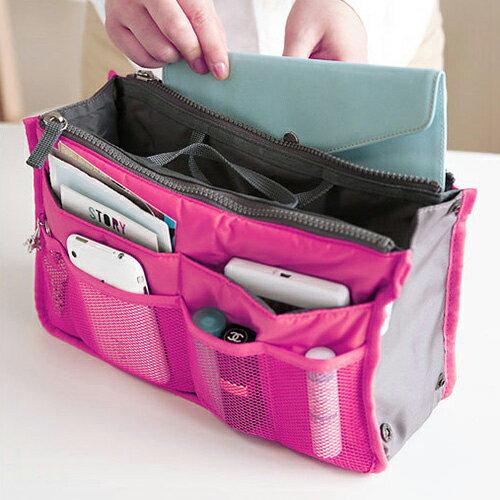 【全館5折】雙拉鍊多功能手提收納包 袋中袋 整理包 包飾衣院 K1044 現貨+預購