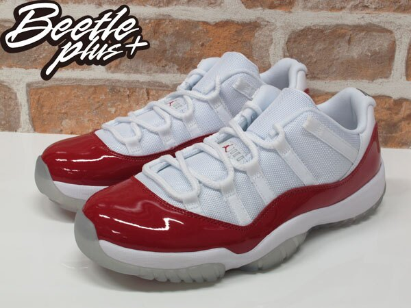 BEETLE NIKE AIR JORDAN 11 LOW CHERRY 櫻桃 白紅 528895-102 US 10 1