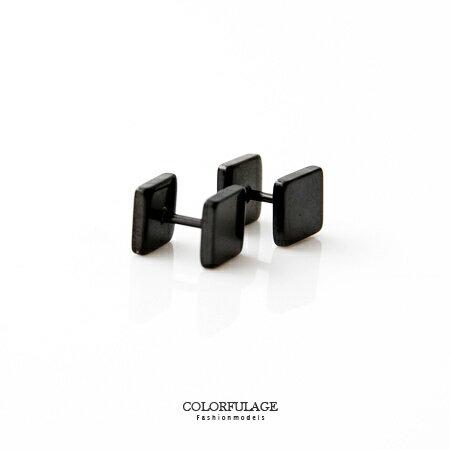 耳環 極簡立體方塊造型鋼製耳針 明星商品 休閒有型品味設計 抗過敏 柒彩年代【ND218】單支價格 0