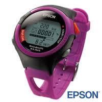 ★綠G能★全新★EPSON  SS-301P 鐵人腕式GPS腕錶-愛跑休閒型(炫麗桃紅)