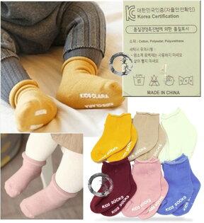 童衣圓【C048】C48純色短襪 素色 防滑 止滑 寶寶襪 短襪 小襪~S號10-13 / M號11-15