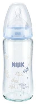 『121婦嬰用品館』NUK 寬口徑玻璃奶瓶 - 240ml (1號中圓洞) 2