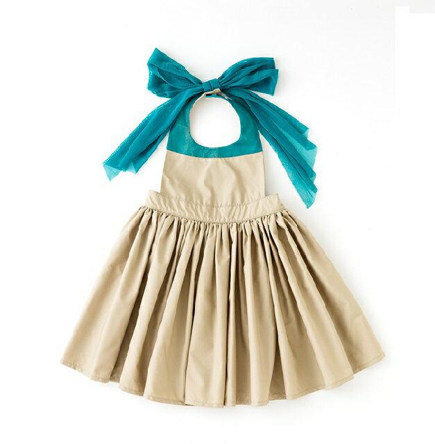 日本【MARLMARL】bouquet兒童圍裙圍兜造型款(卡其100~110cm) - 限時優惠好康折扣