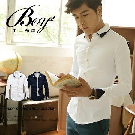☆BOY-2☆【PPK87010】時尚質感拼接造型襯衫 0