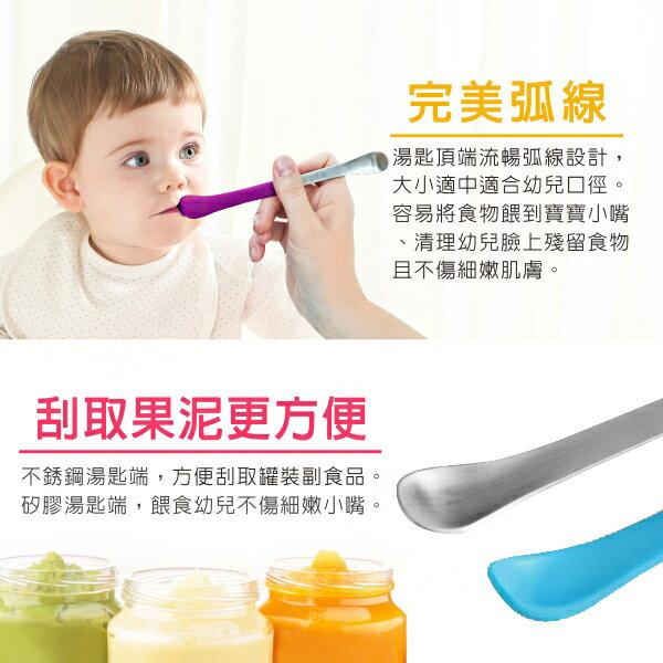 『121婦嬰用品館』PUKU 2in1幼兒湯匙 - 葡萄紫 5