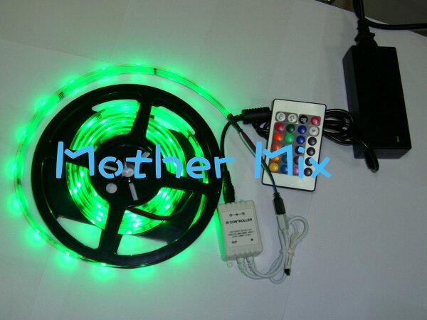 LED灌膠軟條燈-5050 LED燈條 七彩變化燈條 遙控快慢閃爍 變色-SMD -5米-保固一年