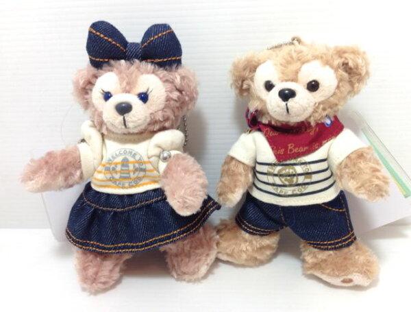 迪士尼海洋限定Duffy&ShellieMay牛仔珠鍊吊飾