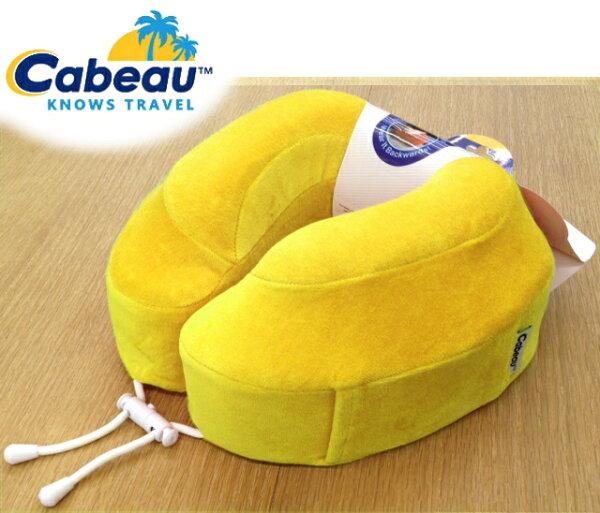 Cabeau 旅行用記憶頸枕/U型枕/旅行/長途/坐車旅遊枕/飛機靠枕/旅行枕/旅行頸枕 枕頭套可拆洗 黃