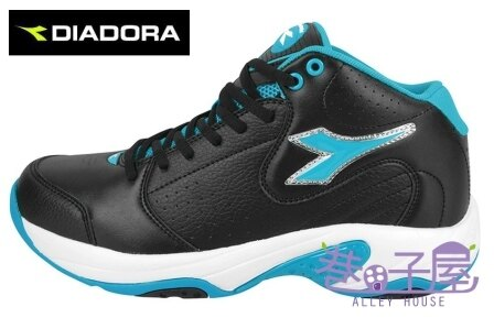 【巷子屋】義大利國寶鞋-DIADORA迪亞多納 男鞋籃球鞋 [7356] 黑白藍 超值價$756