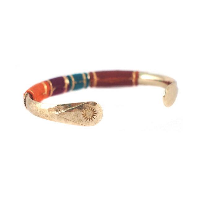 【現貨商品】【GAS Bijoux】Massai 麂皮手編拋光黃銅手環(GAB006Grn-097  0887730000) 2