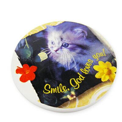 清倉商品- 吸水杯墊-歐風可愛貓咪B款