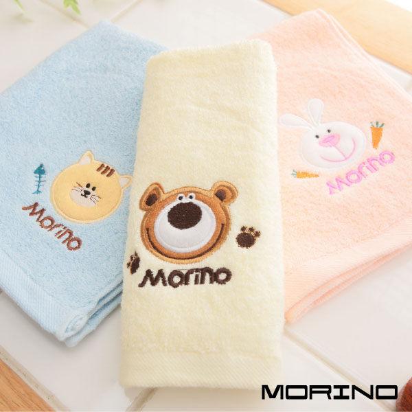 【MORINO摩力諾】素色動物貼布繡毛巾