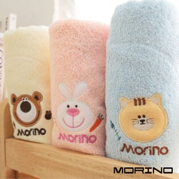 【MORINO摩力諾】素色動物貼布繡方巾