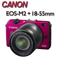 Canon佳能到【★送32G記憶卡+副電(含盒內原電共2)+相機包+吹球清潔組】CANON EOS-M2  18-55mm IS STM【平行輸入】ATM/黑貓貨到付款加碼送 專用遙控器