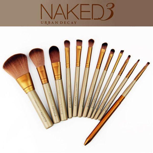 NAKED3 12支羊毛化妝刷 鐵盒裝【庫奇小舖】
