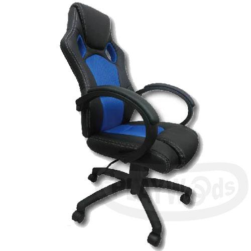 【Playwoods】[X-GEAR]音樂遊戲電玩-辦公型電玩椅URANUS-LOUNGE SERIES(藍色-PS3/XBOX360/Wii/PSP/NDSL/IPOD周邊)