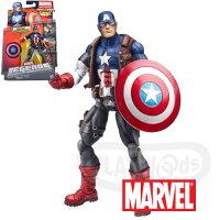 美國隊長周邊商品推薦【Playwoods】[Marvel Legends]漫威宇宙2013 Hit Monkey系列:美國隊長Ultimate Captain America 6吋人物(Wave 1-殺手猴/Avengers/英雄內戰/鋼鐵人/蜘蛛人/復仇者聯盟/公仔)