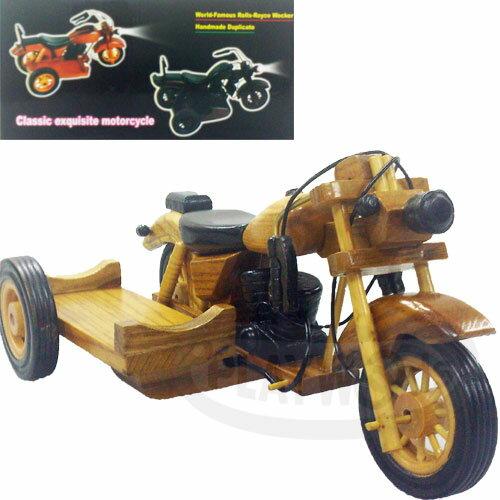 【Barocco Nuts】[懷舊古玩]酒架:木製 三輪 老式 摩拖車Wine Rack-Tricycle(機車/側載摩托車/哈雷/紅酒/白酒/威士忌) 聖誕/交換