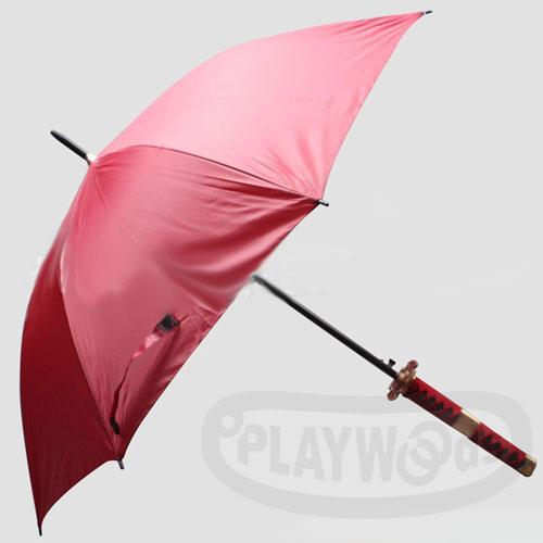 ~Playwoods~^~雨傘^~ 鬼徹 傘 紅柄紅身Umbrella^(索隆~海賊王~斬
