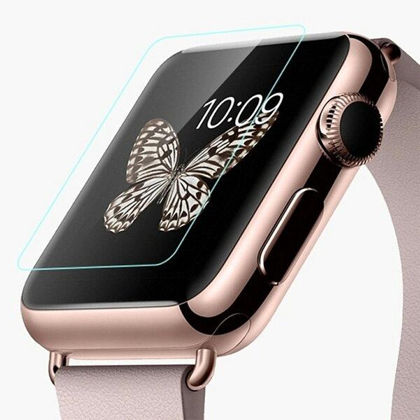 【當日出貨】Apple Watch 康寧材質 9H硬度 0.1mm 螢幕玻璃貼 鋼化玻璃保護貼 ROCK-MOOD