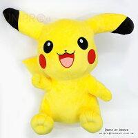 Pokemon:精靈寶可夢到【UNIPRO】神奇寶貝 皮卡丘 Pikachu 60公分 絨毛娃娃 玩偶 十萬伏特電力 禮物 正版授權 寶可夢 Pokemon Go