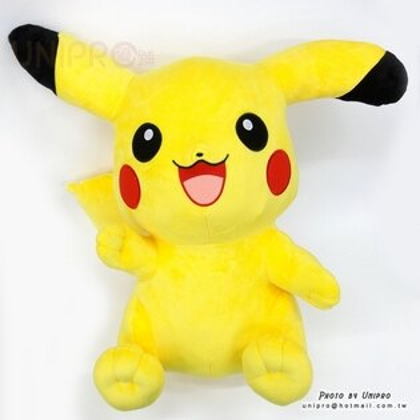 【UNIPRO】神奇寶貝 皮卡丘 Pikachu 60公分 絨毛娃娃 玩偶 十萬伏特電力 禮物 正版授權 寶可夢 Pokemon Go