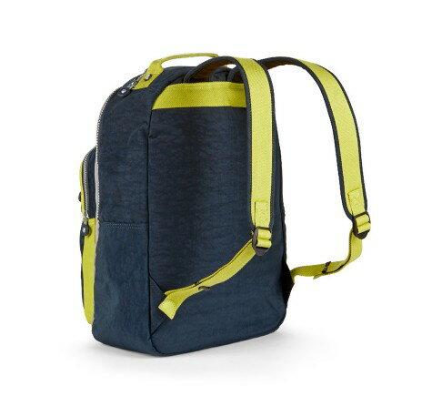 OUTLET代購【KIPLING】時尚經典Seoul旅行袋 斜揹包 肩揹包 後揹包 黃藍 1