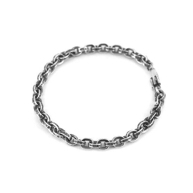 【海外訂購】【Chrome Hearts】Paper chain 鎖鍊型純銀手鍊 18cm (CHB-059-7 0223610000) 2