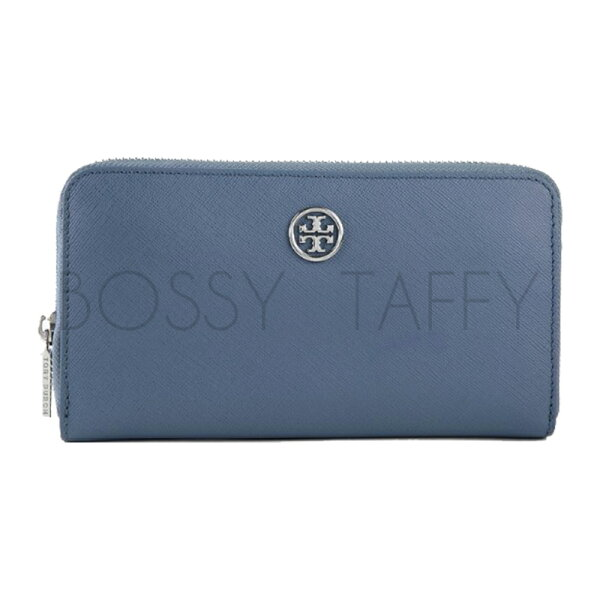 TORY BURCH 11159017 ROBINSON MULTI GUSSET ZIP CONTINENTAL WALLET 冰藍色長夾