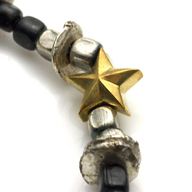 【海外訂購】【amp japan】星星串珠小銅幣墜飾手鍊(AMP-13AHK-140-Gold&Black  06412200JG) 2